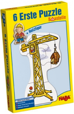 HABA 6 erste Puzzles Baustelle 3901