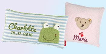 Geburtsdatum /& Motiv☆ ☆B/är ☆Eule ☆Giraffe ☆Einhorn Baby Geschenk Giraffe ☆mit Namen Kissen zur GeburtIch bin neu hier