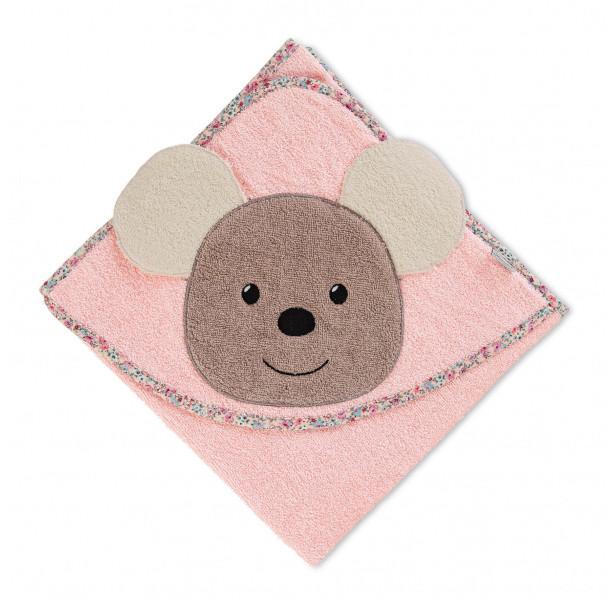 Sterntaler Baby  Badetuch m Kapuze Kapuzenbadetuch 80 x 80 Mabel Maus 7102071